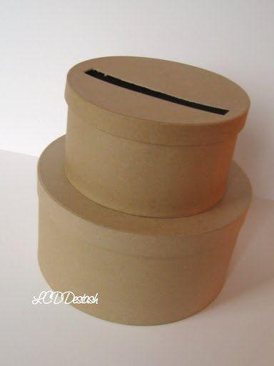 DIY Wedding Card Box Unfinished 2 tier card Box by LCDDeStash ...