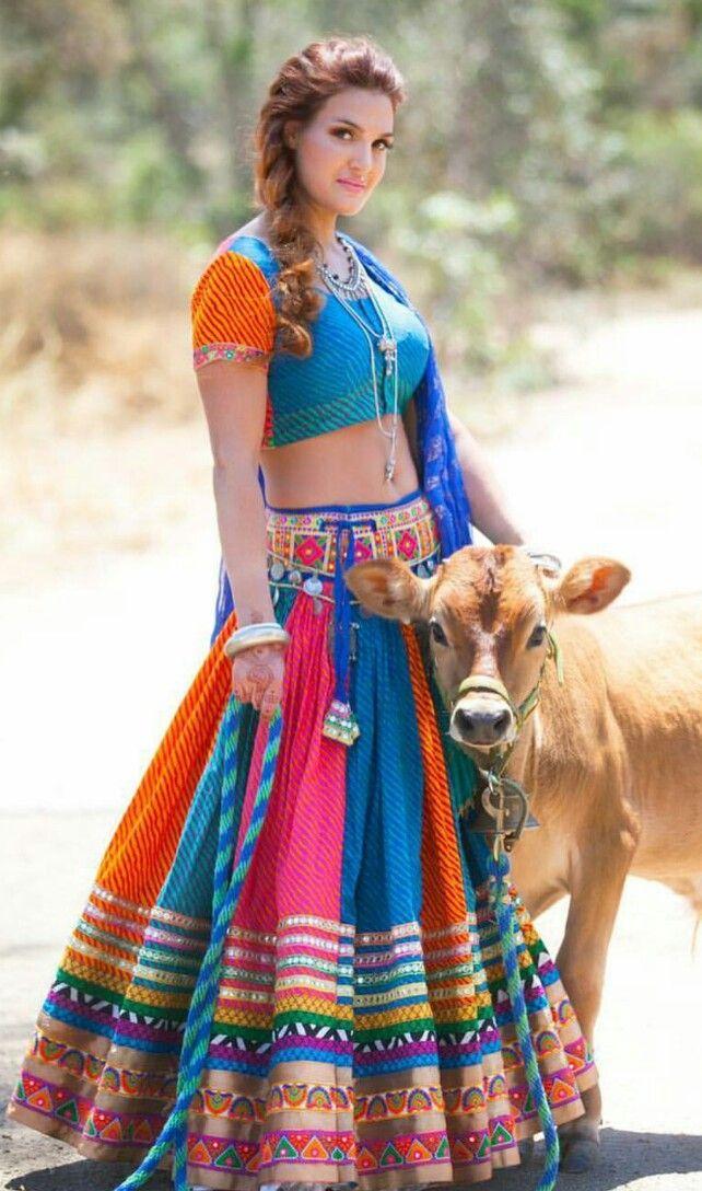 Love all the colors! So pretty! #indian #lehenga #colorful #fashion