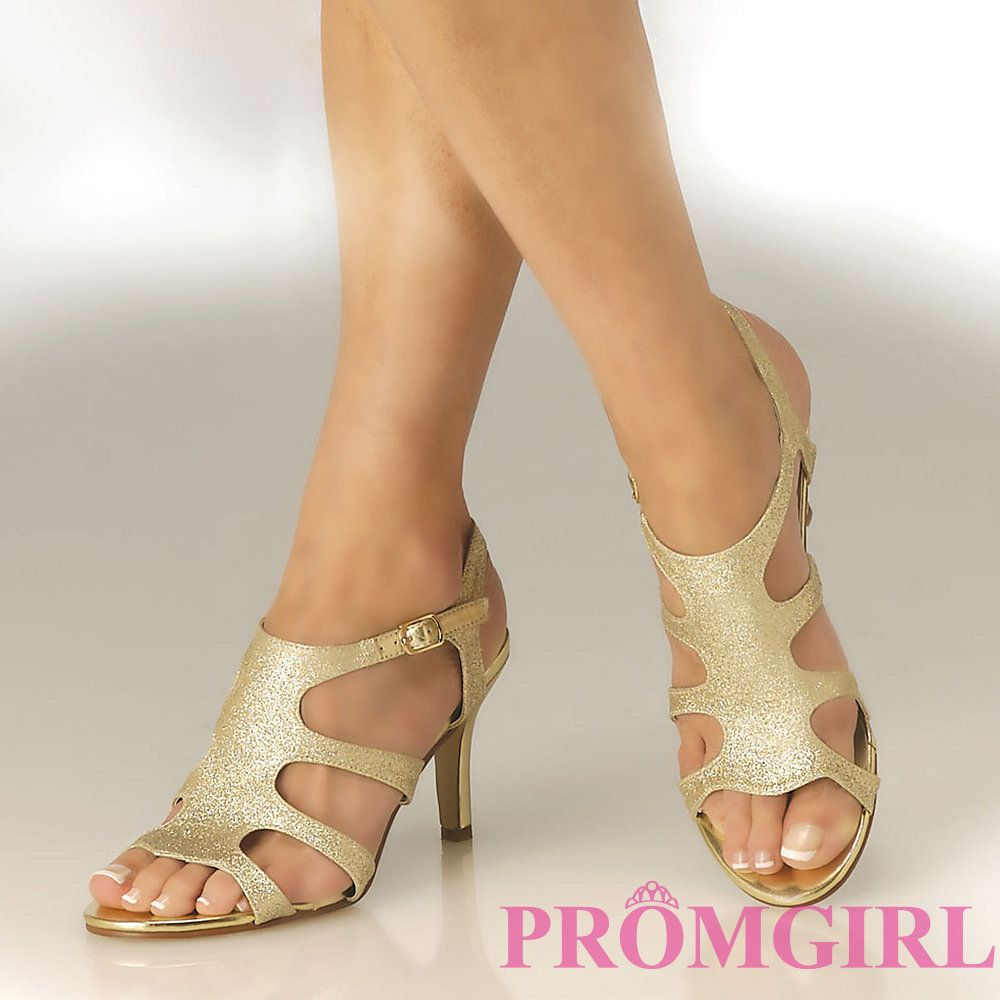 Gold Low Heel Evening Shoes | What to Wear | Pinterest | Evening ...