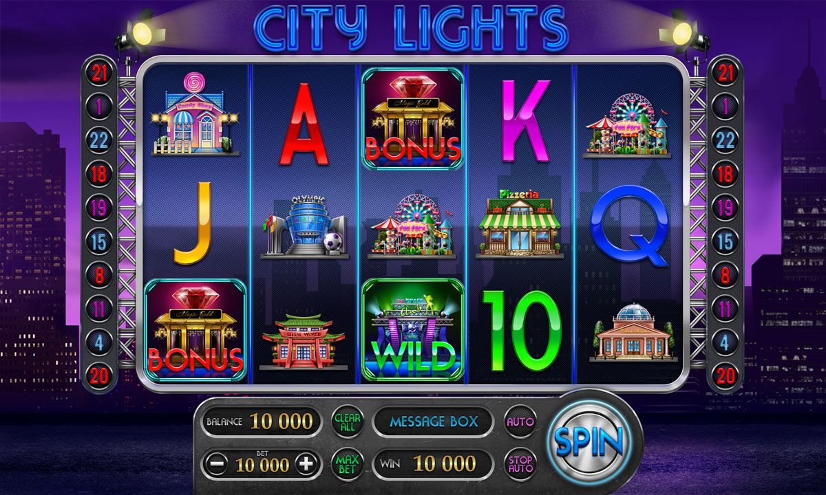 City Lights (With images) City lights, Slot machines for