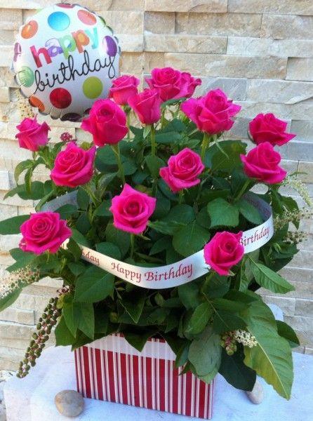 Happy Birthday Roses gimtadienio atvirukai – Birthday Greetings with Roses