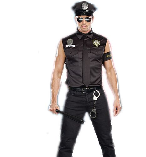 0de04f0d866e7 2015 Hot sale Men Police Costumes Sexy Profession Costumes Black ...