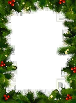 christmas borders transparent