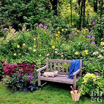 Give Your Birdbath A Colorful Skirt Of Beautiful Shade Loving Flowers
