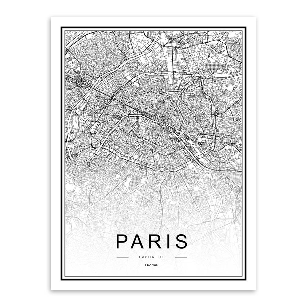 Copenhagen Denmark Coordinates Black /& White Travel Quote Poster Print