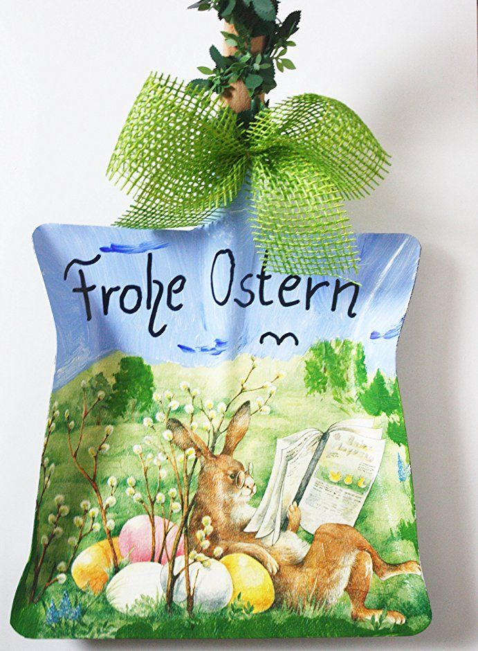 Deko Kehrschaufel - Frohe Ostern Hase macht Pause Osterdeko ...