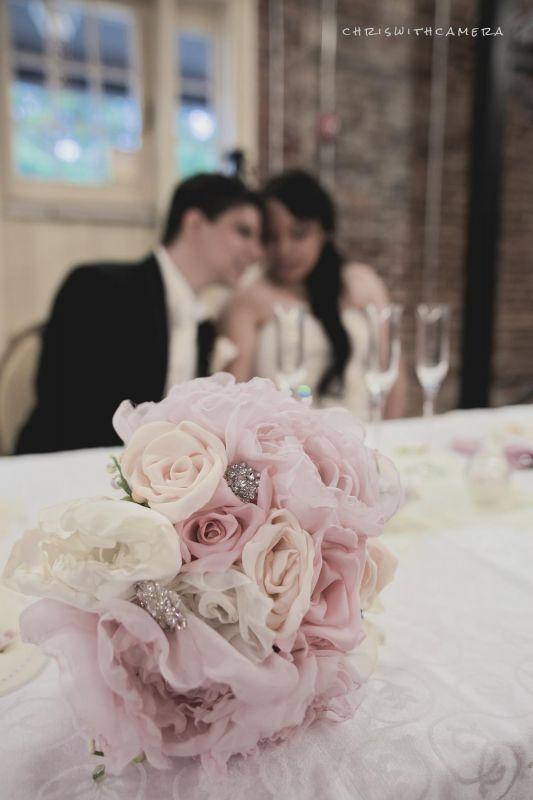 My DIY fabric flower bouquet! : wedding bouquet diy fabric flowers ...