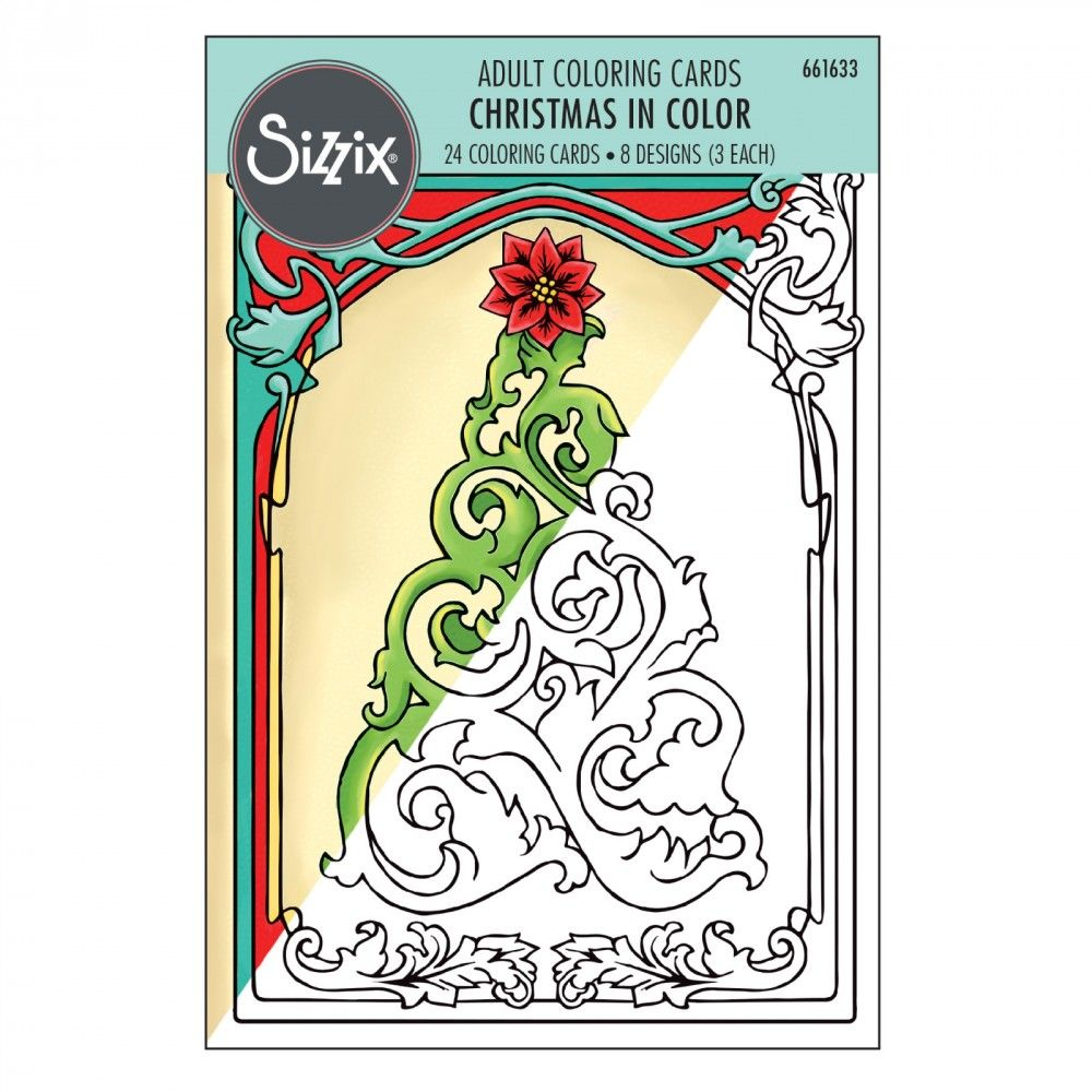 661633  Sizzix Coloring Cards - Christmas in Color