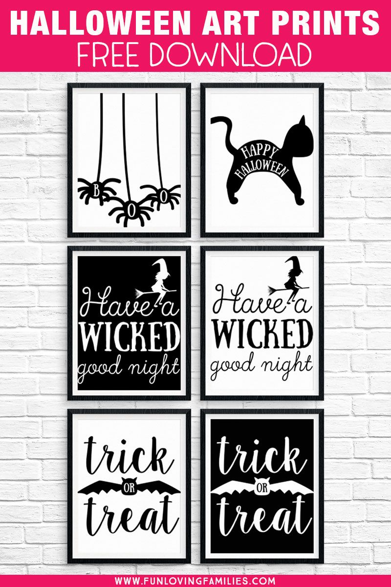Free Halloween Printables Download These 8x10 Black And White Halloween Prints Fo Halloween Prints Halloween Party Printables Printable Halloween Decorations