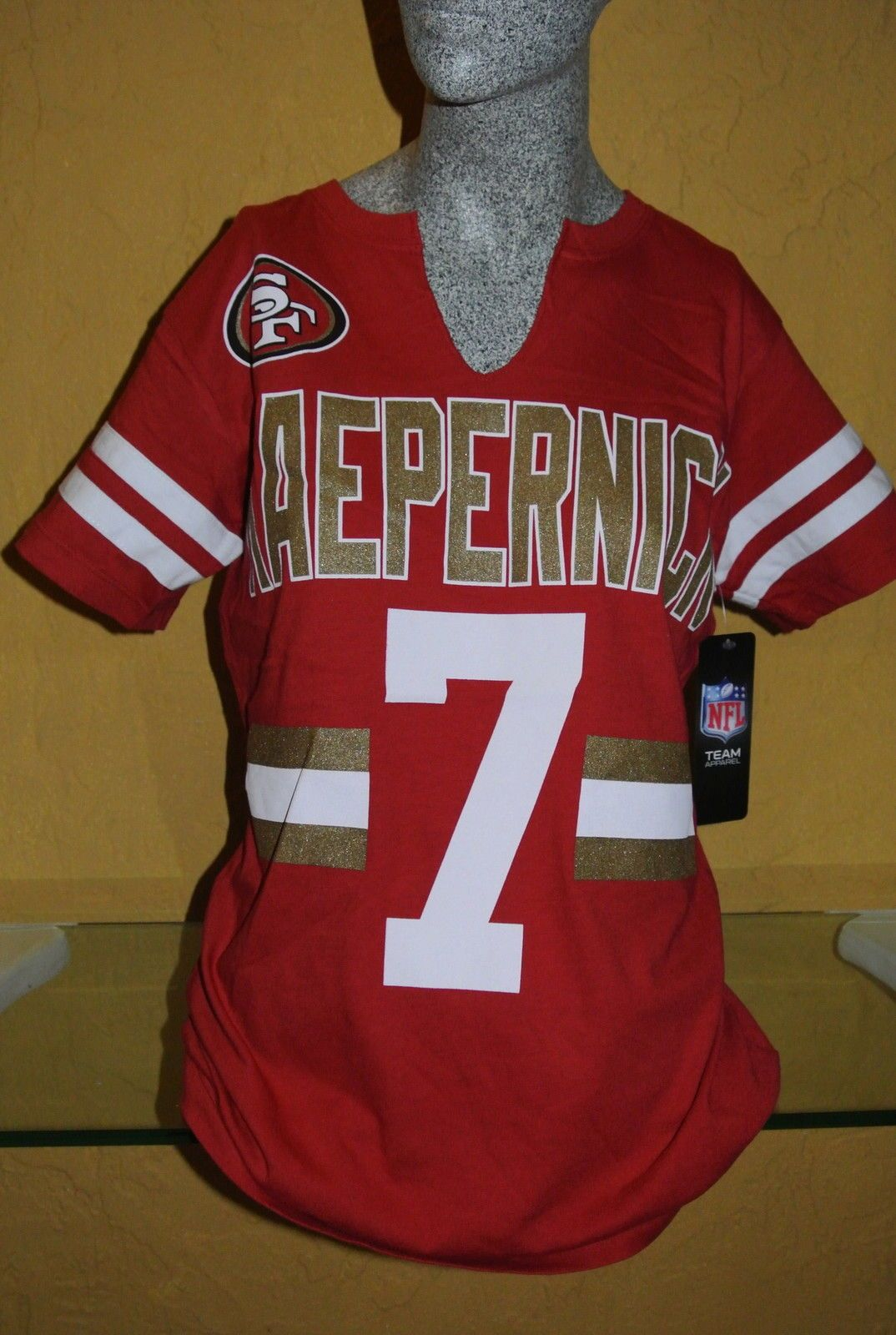 dc74c0f0 new arrivals nike san francisco 49ers 42 ronnie lott white elite jersey  ef8af c1955; coupon code for san francisco 49ers colin kaepernick women  shirt size l ...