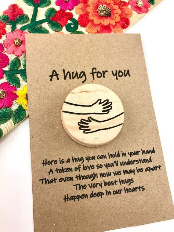Cuddle token rainbow heart design Cuddles for an amazing Friend Pocket Hug gift DD1641