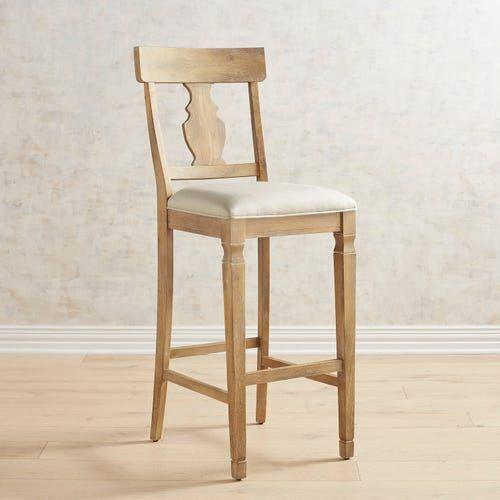 Bradding Stonewashed Upholstered Bar Stool Upholstered Bar Stools Bar Stools Rustic Bar Stools