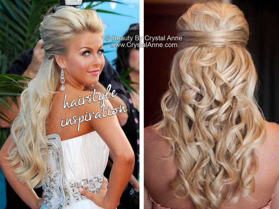 Julianne Hough Inspired Half Up Bridal Hairstyle Half Updo Wedding Hair Bridal Hair Brides Formal Hairstyles Bridesmaid Hair Half Up Wedding Hair Updo Side