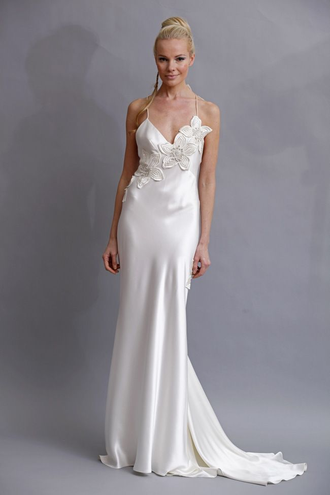Elizabeth Fillmore Silk Charmeuse Wedding Dress Jpg 650 975 Charmeuse Wedding Dress Wedding Dress Gallery Embroidered Wedding Dress
