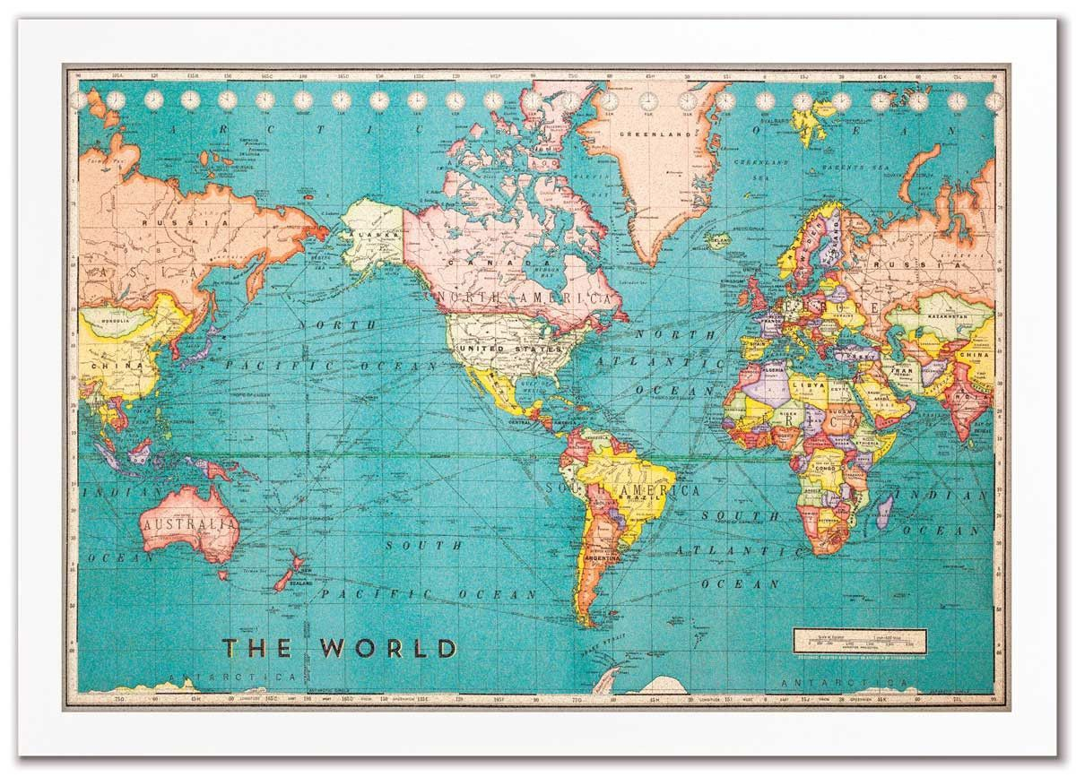 Cork board world map cork boards cork and board cork board world map gumiabroncs Gallery