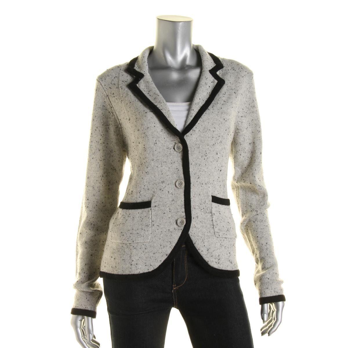 Private Label Womens Contrast trim Cashmere Cardigan Sweater ...