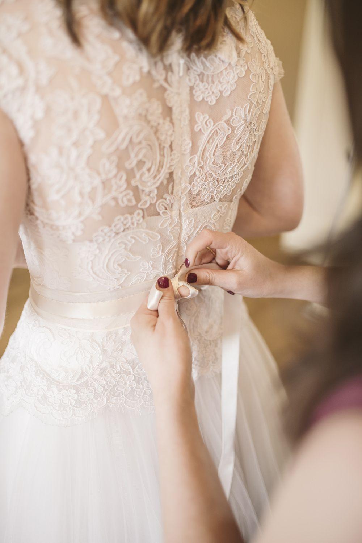 A David Fielden bridal gown for an eclectic modern wedding at ...