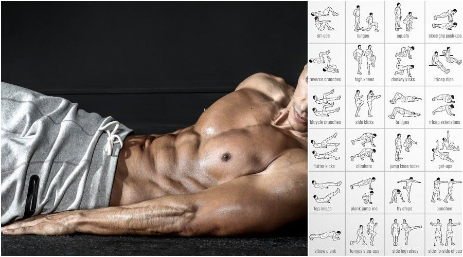 The Best 20-Minute 8 Exercise Bodyweight Workout for Weight Loss - GymGuider.com