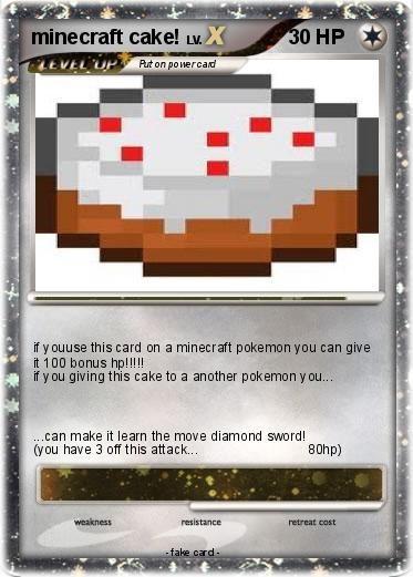 Minecraft Pokemon Cards Pokemon Minecraft Cake Healthy