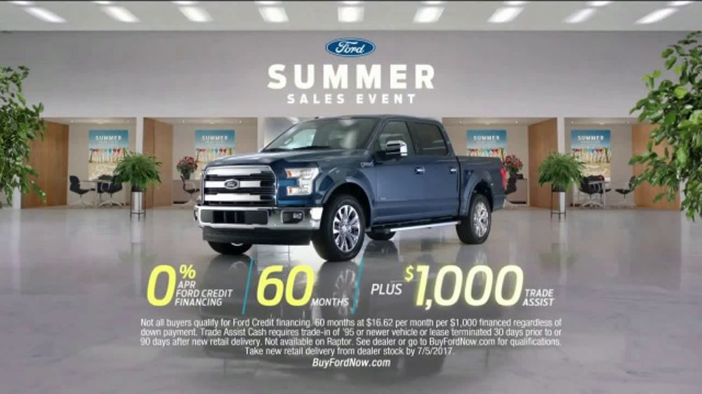 During The Ford Summer Sales Event Which Runs Until July 5 2017 Well Qualified Buyers May Find Financing Like Zero Per Summer Sale Sale Event Tv Commercials