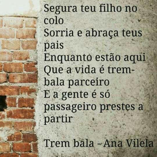 Trem Bala Ana Vilela Com Imagens Frases Motivacionais