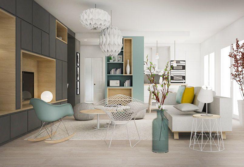 Un bain de lumi re am nagement appartement villeubanne integrado home salon living room - Decoration interieur maison ...