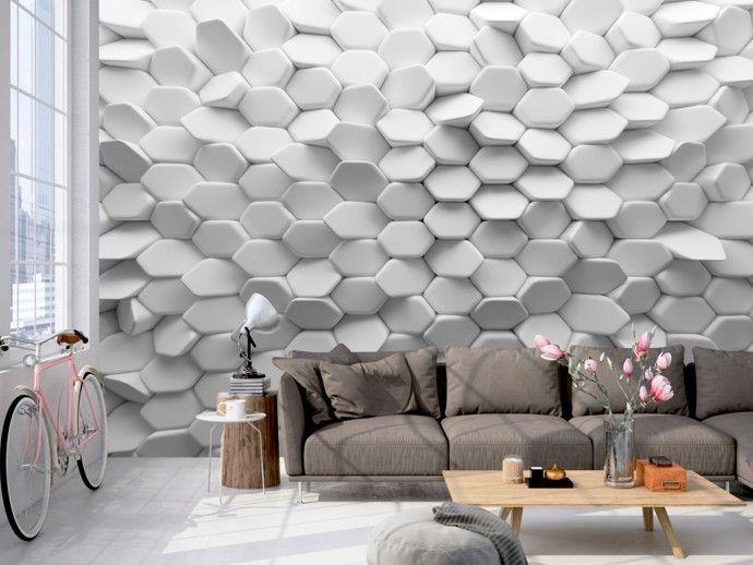 Vliestapete white mystery wohnzimmer in 2019 tapeten for Ikea carta da parati