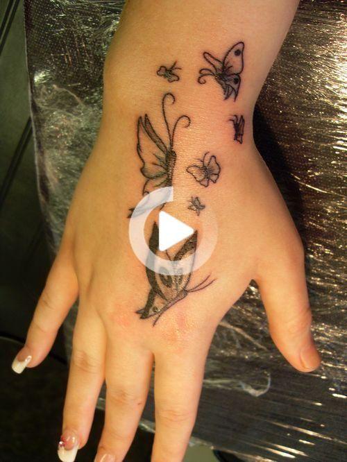 Diseños de tatuajes pequeños de mariposa — Tatuajeclub.com