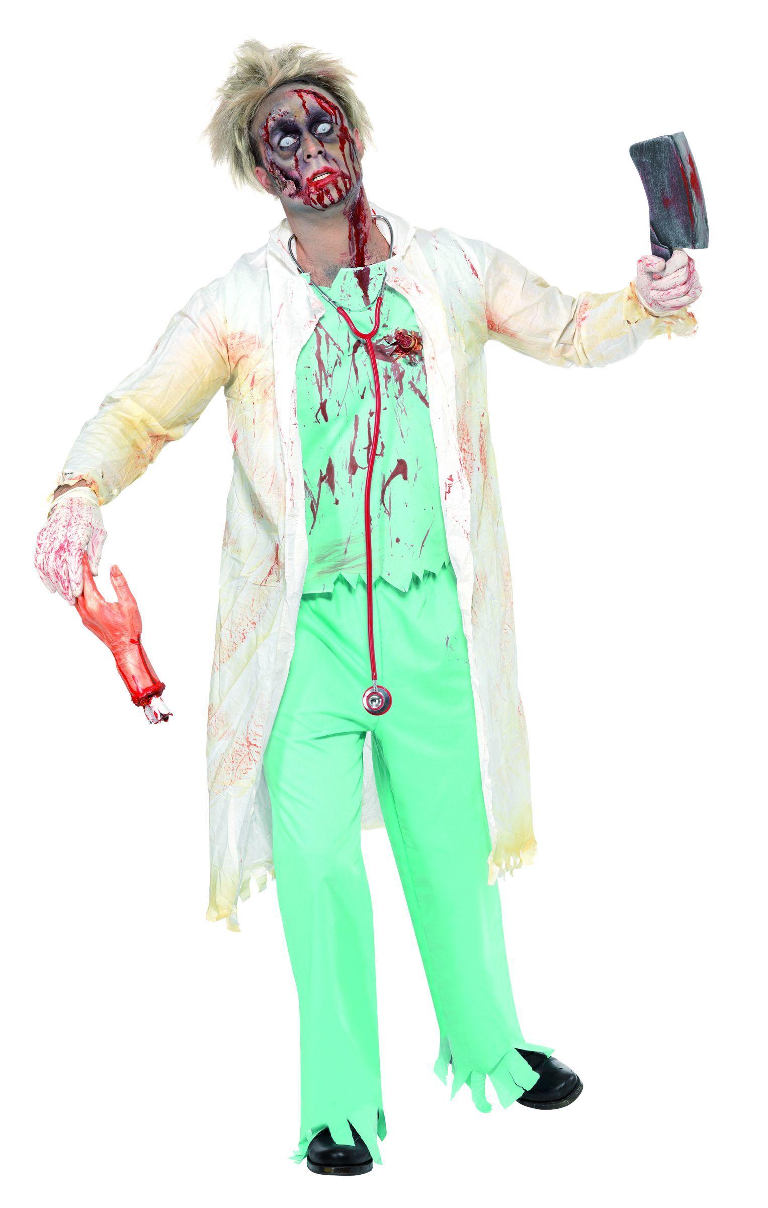 Déguisement zombie docteur homme Halloween  Ce déguisement Halloween de  docteur zombie pour homme est digne