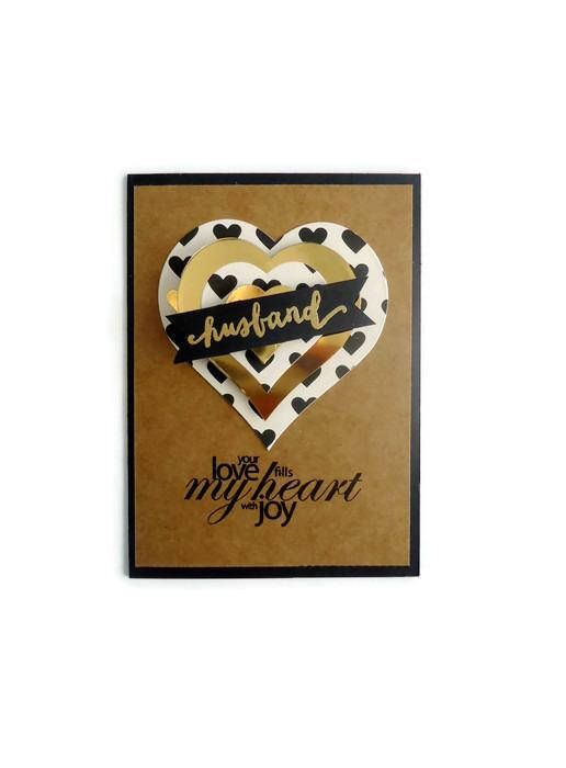 Husband valentines day card your love fills my heart just for u husband valentines day card your love fills my heart just for u notes handmade greeting cards and other stuff pinterest poly bags handmade greetings m4hsunfo