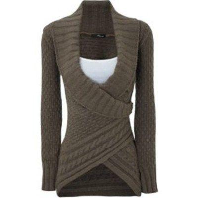 GREY WRAP SWEATER #sweater