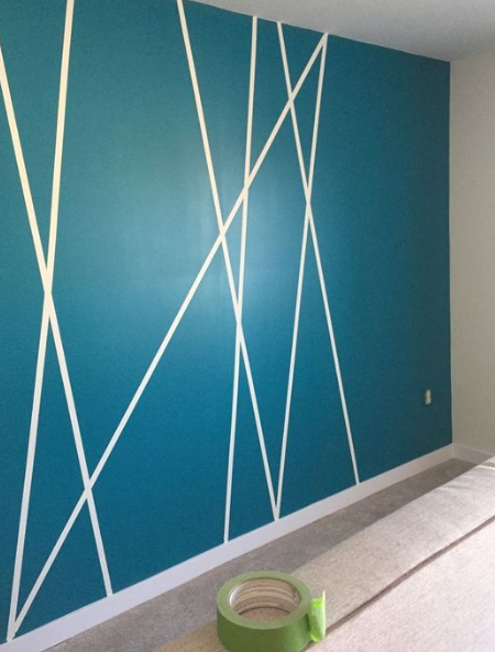 25 Diy Tape Mural Wall Art Paint Ideas