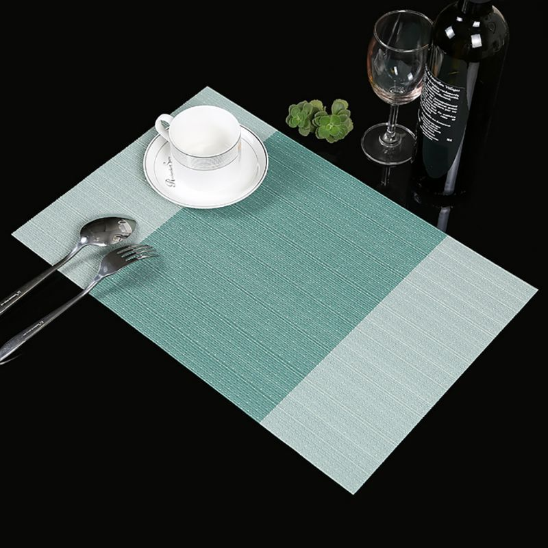 4 Pcs Pvc Dining Table Placemat Europe Style Kitchen Tool