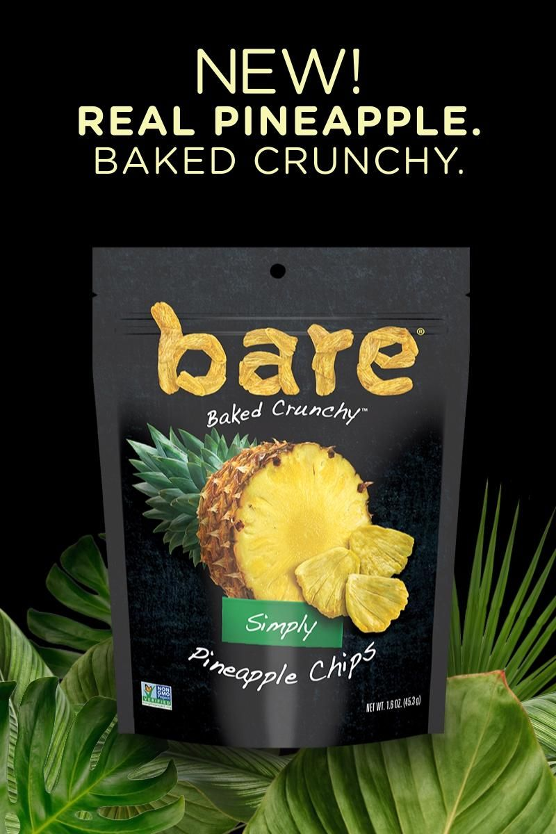 Introducing the deliciously crunchy and sweet bare pineapple chips. Buy now!​