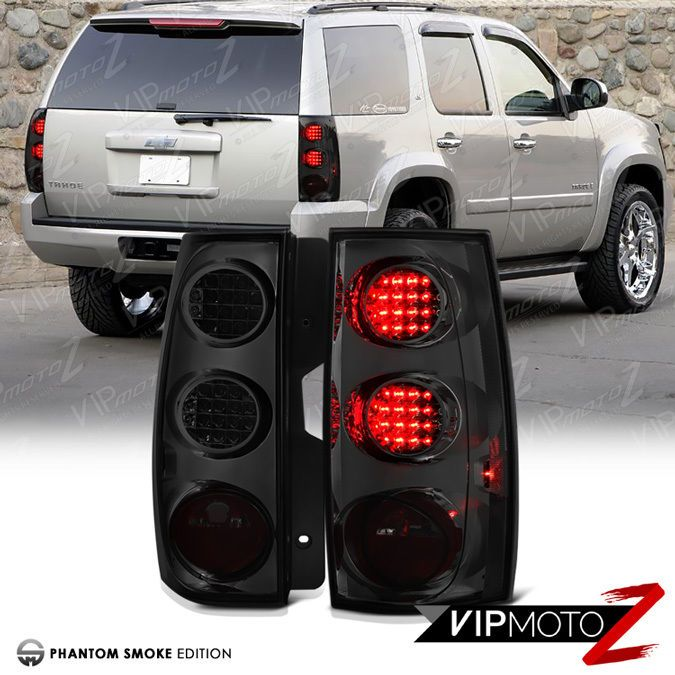 2007 2014 Chevy Tahoe Suburban Ltz Lt Smoke Smd Led Tail Lights