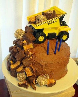 Awe Inspiring Tonka Cake Truck Birthday Cakes Cool Birthday Cakes Boy Funny Birthday Cards Online Necthendildamsfinfo