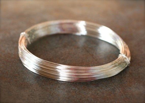 Sterling Silver Wire 26 gauge round half hard 10 by CraftyWrenn ...