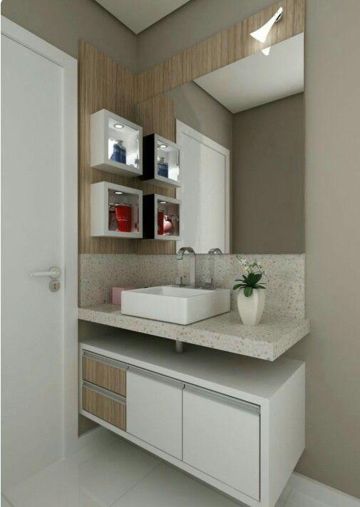 Modulado Embaixo Da Pia Do Banheiro Com Imagens Banheiros