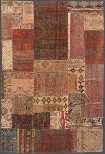 Provenienza: persia Nome: Patchwork Area Baluch (Vari frammenti dei tappeti Baluch) Epoca: Recente Manifattura
