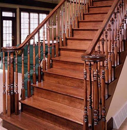 Stairs Railing Designs On Wood Stair Railing Design In 2019