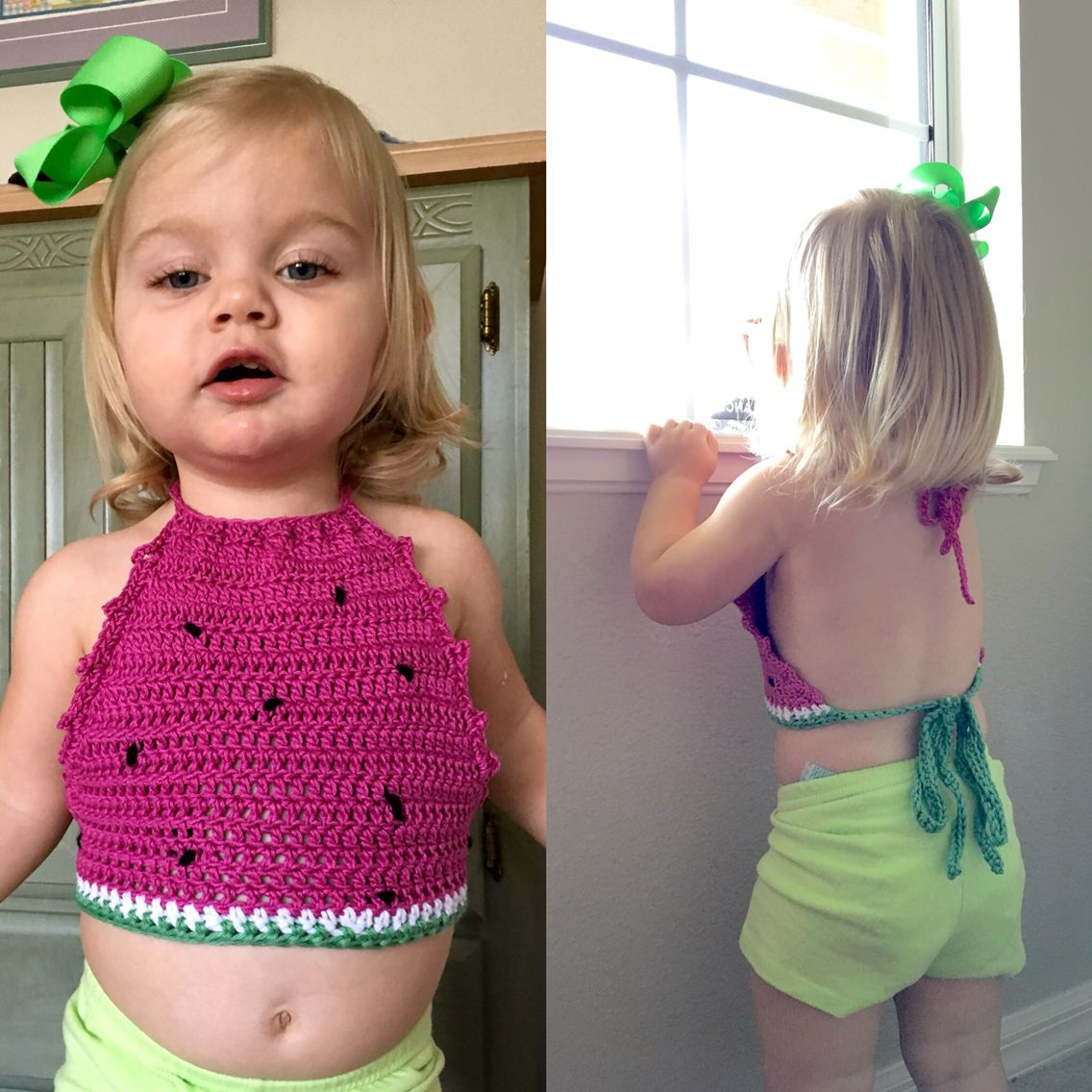 bee979143bc Cotton Watermelon Crop Top for the Littles. Available in sizes 12 months to  24 months