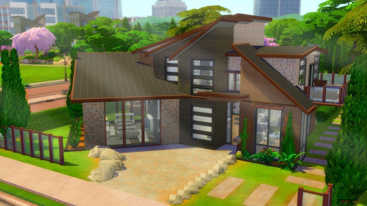 The Sims 4Base GameModern Family HomeNo CC Speed Build