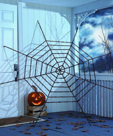 GANZ Giant Glitter Spiderweb zulily Nightmare on Little St - giant spider halloween decoration