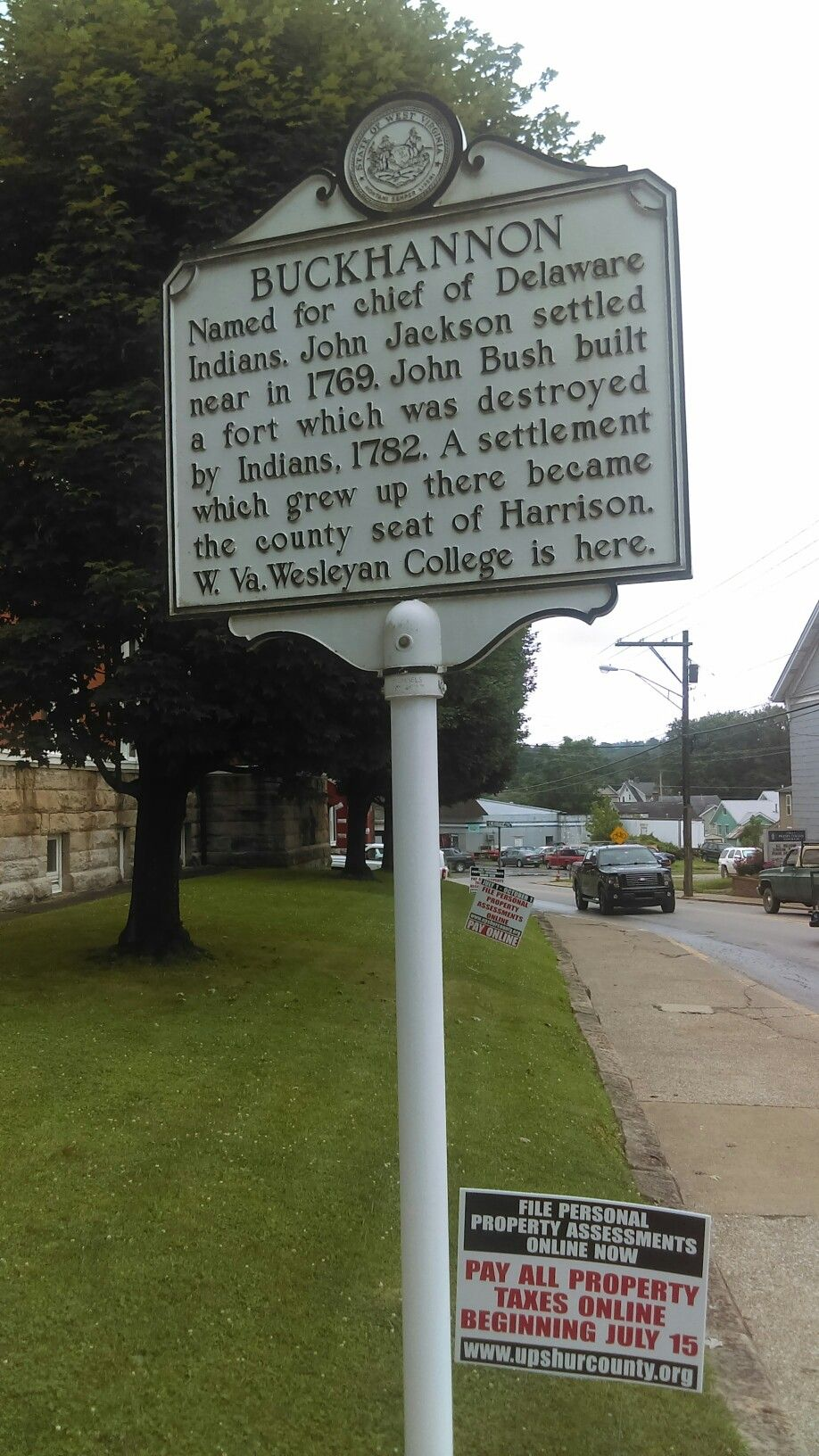 Historical marker county seat