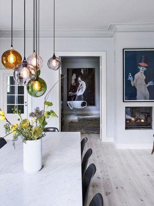 7b Bolig Magasinet Interiors Blackandwhite Lighting Sale Da Pranzo Contemporanee Idea Di Decorazione Design Della Sala Da Pranzo