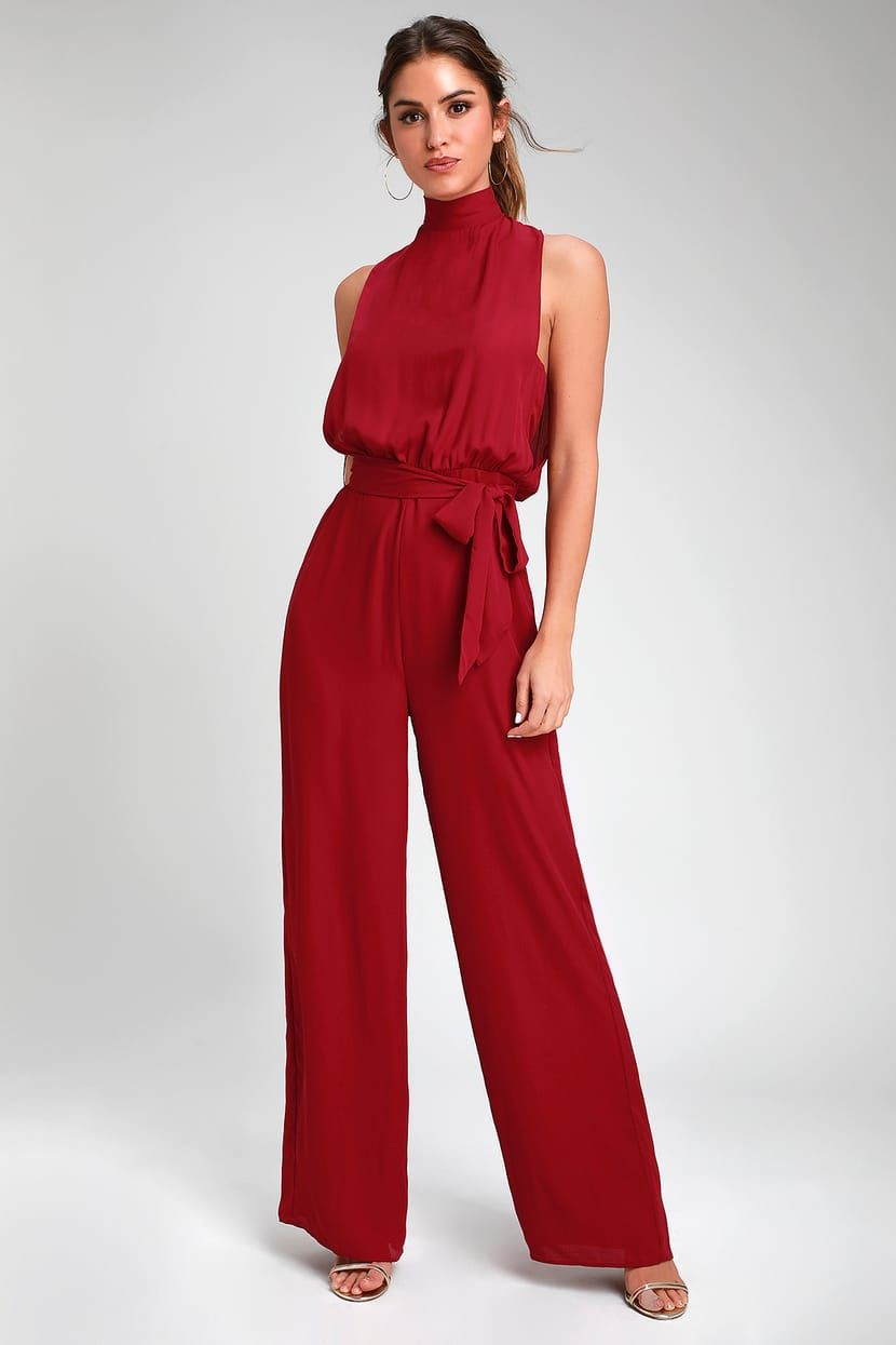 Strut Your Stuff Wine Red Backless Jumpsuit In 2020 Jumpsuit Elegant Backless Jumpsuit Red Jumpsuits Outfit