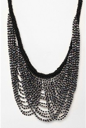 Scalloped Bead Statement Necklace - StyleSays
