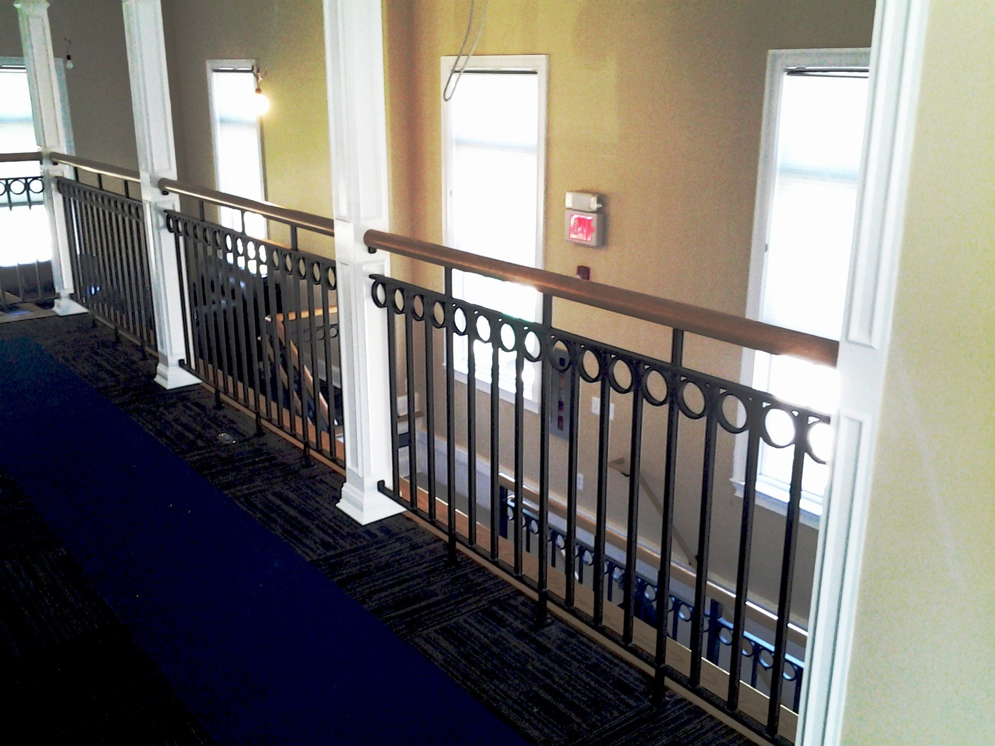 Wrought Iron Railing With Decorative Wood Cap Rail With Images