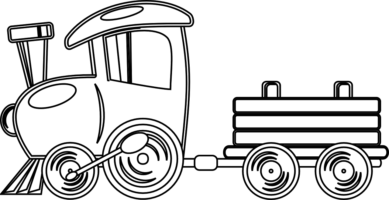 Train Travel Transportation Railway Journey Clip Art Free Clip Art Doodle Coloring
