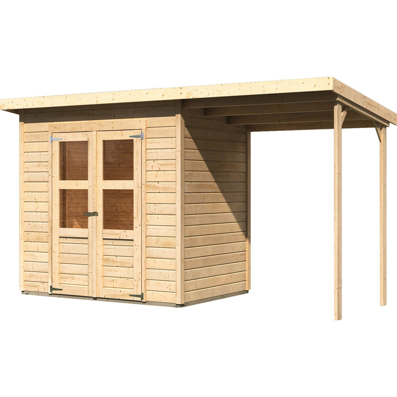 Woodfeeling Holz Gartenhaus Neuenburg Natur 370 Cm X 150 Cm Davon 162 Cm Anbauda Kaufen Bei Obi Gartenhaus Pultdach Karibu Gartenhaus Gartenhaus